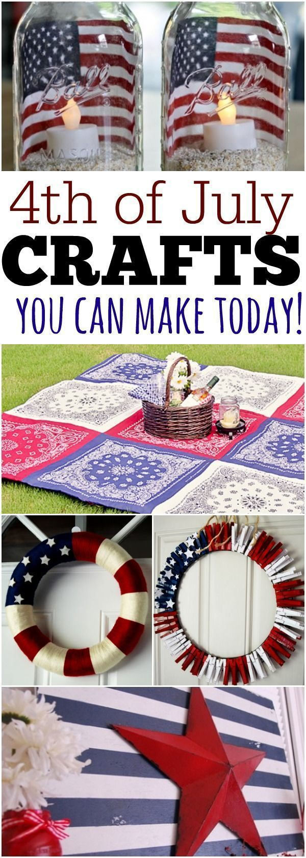 Fourth of July Crafts- Lots of 4th of July Crafts to make everything patriotic. images