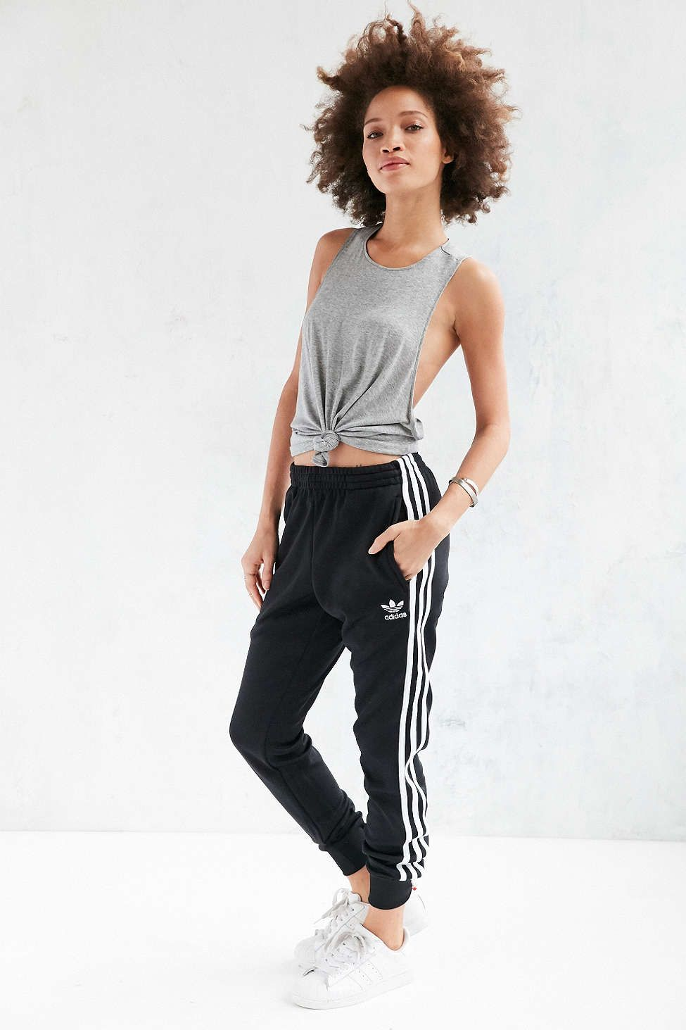 adidas track pants outfit