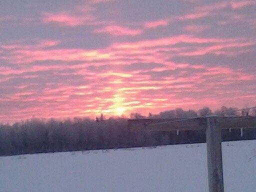 Winter sunrise in the U.P.!:-)