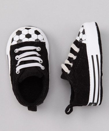 Take a look at this Black Soccer Sneaker by Vitamins Baby on #zulily today!