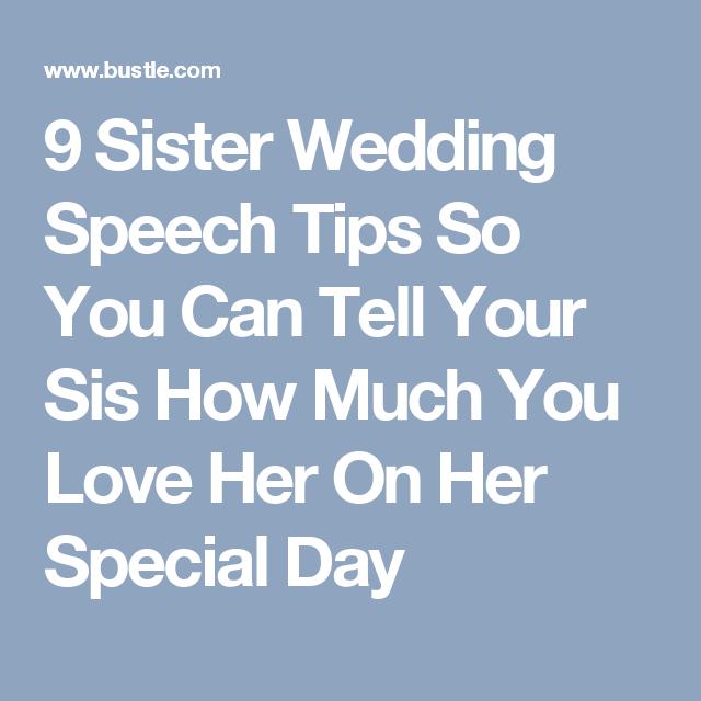 9 Amazing Sister Wedding Speech Tips