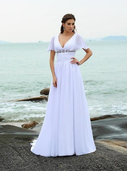 Chiffon Wedding Dressesbeach Wedding Dresswedding Dress With