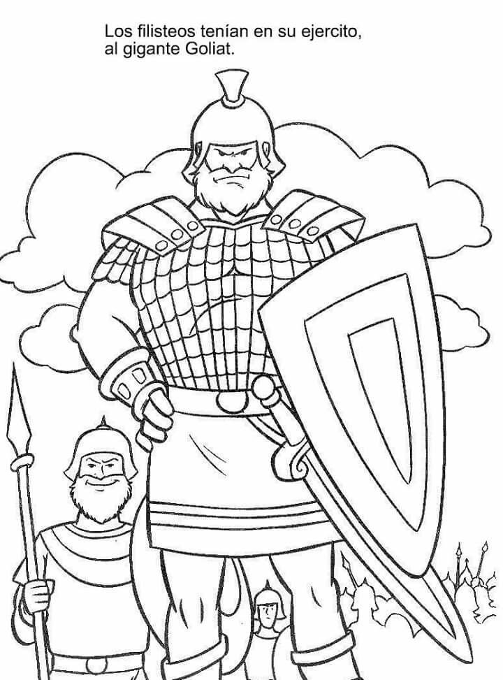 Gigante goliat | esc. dominical | Pinterest | David y Goliat ...
