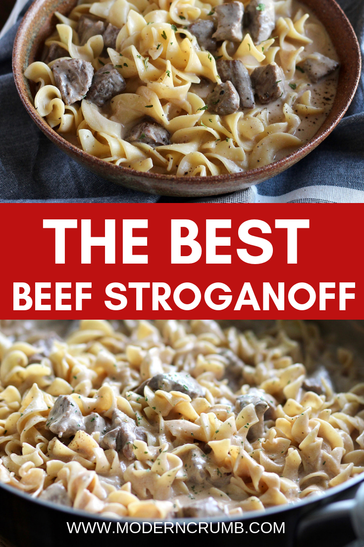 World S Best Beef Stroganoff With Sour Cream Modern Crumb Recipe Best Beef Stroganoff Slow Cooker Beef Stroganoff Beef Stroganoff Easy