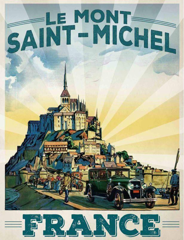 Marmont Hill Le Mont Saint-Michel Print on Canvas 39 x 30 Home Decor ...