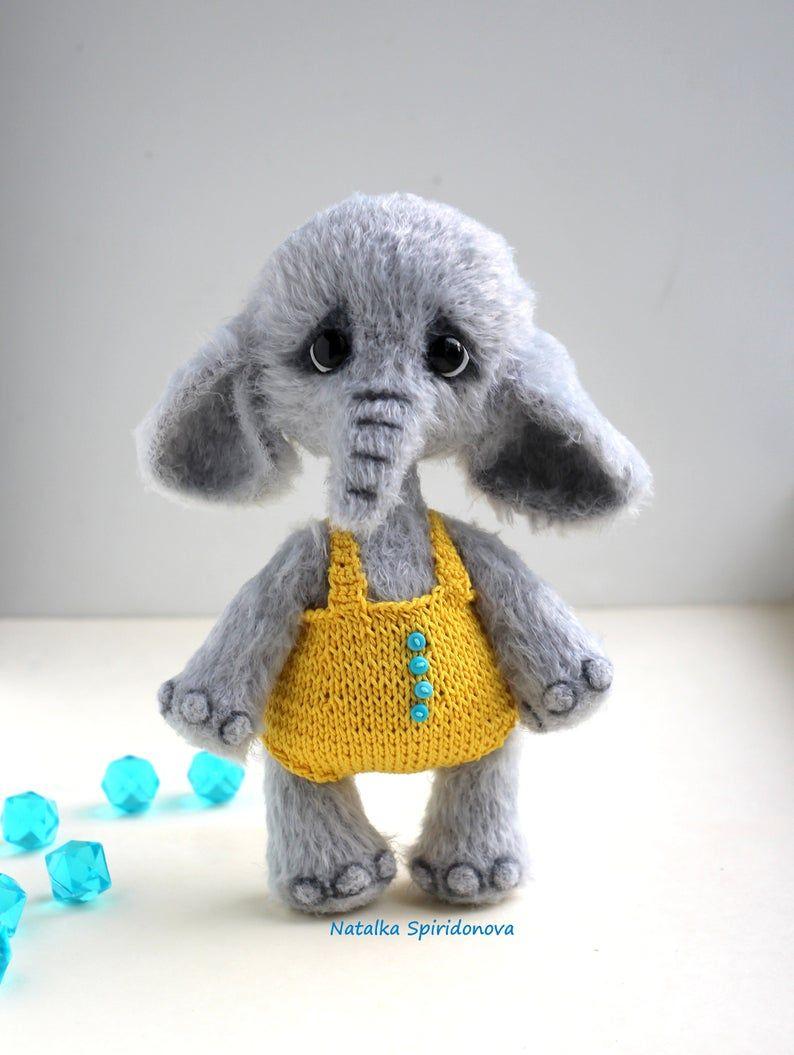 Crochet elephant PATTERN amigurumi, toy pattern, crochet toy pattern, toy pattern, pdf pattern, animals pattern, tutorial, digital download