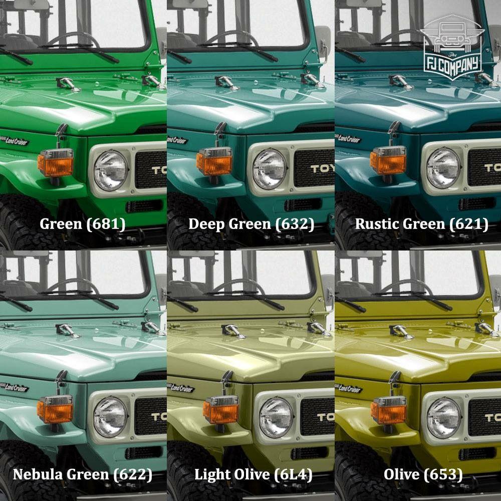 Fj 40s In Shades Of Green Land Cruiser Toyota Fj40 Fj40