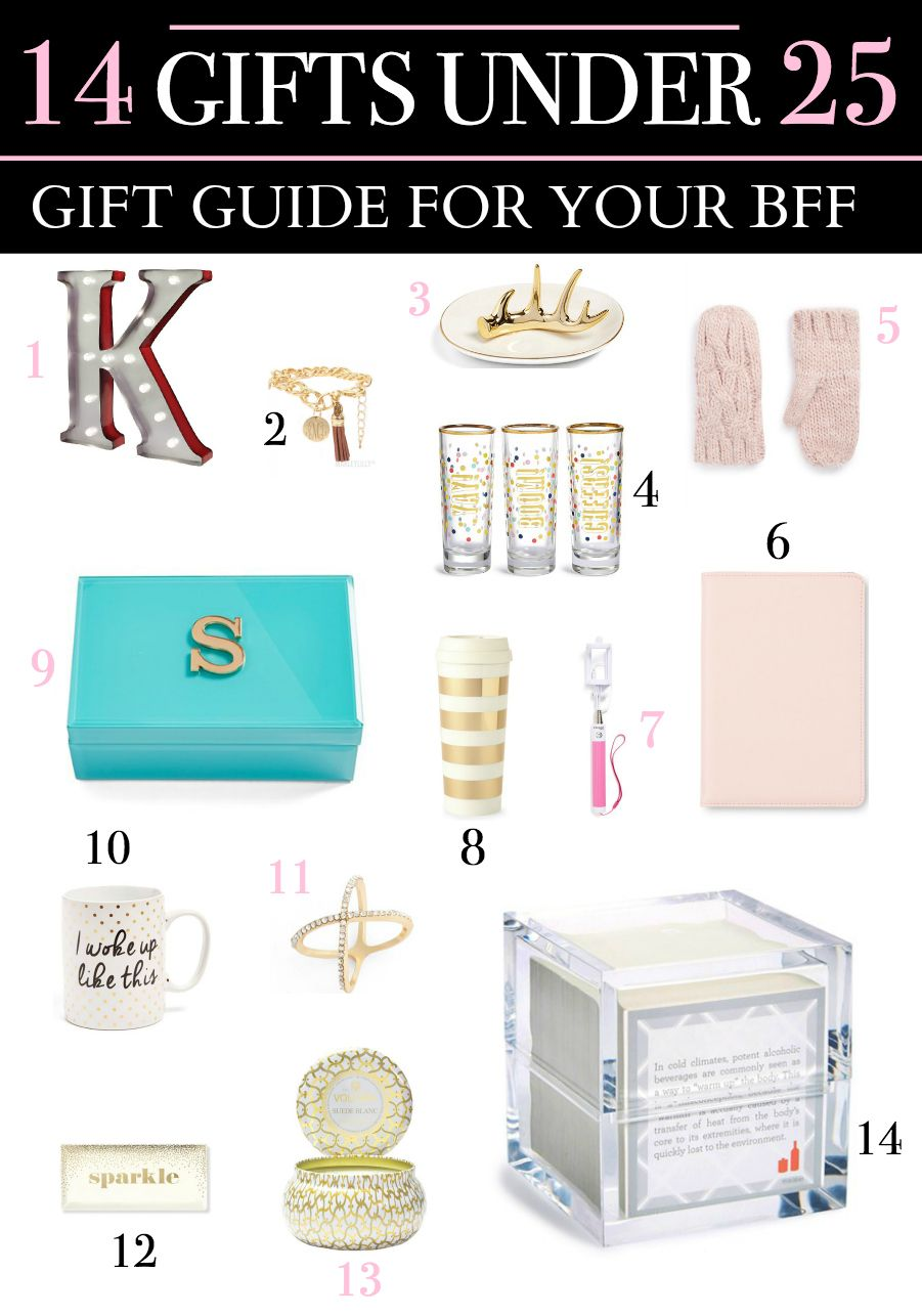 Adorable Gifts For Your BFF All Under 25
