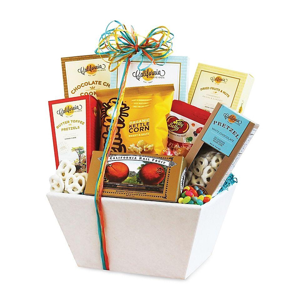 California snack sampler gift basket multi california