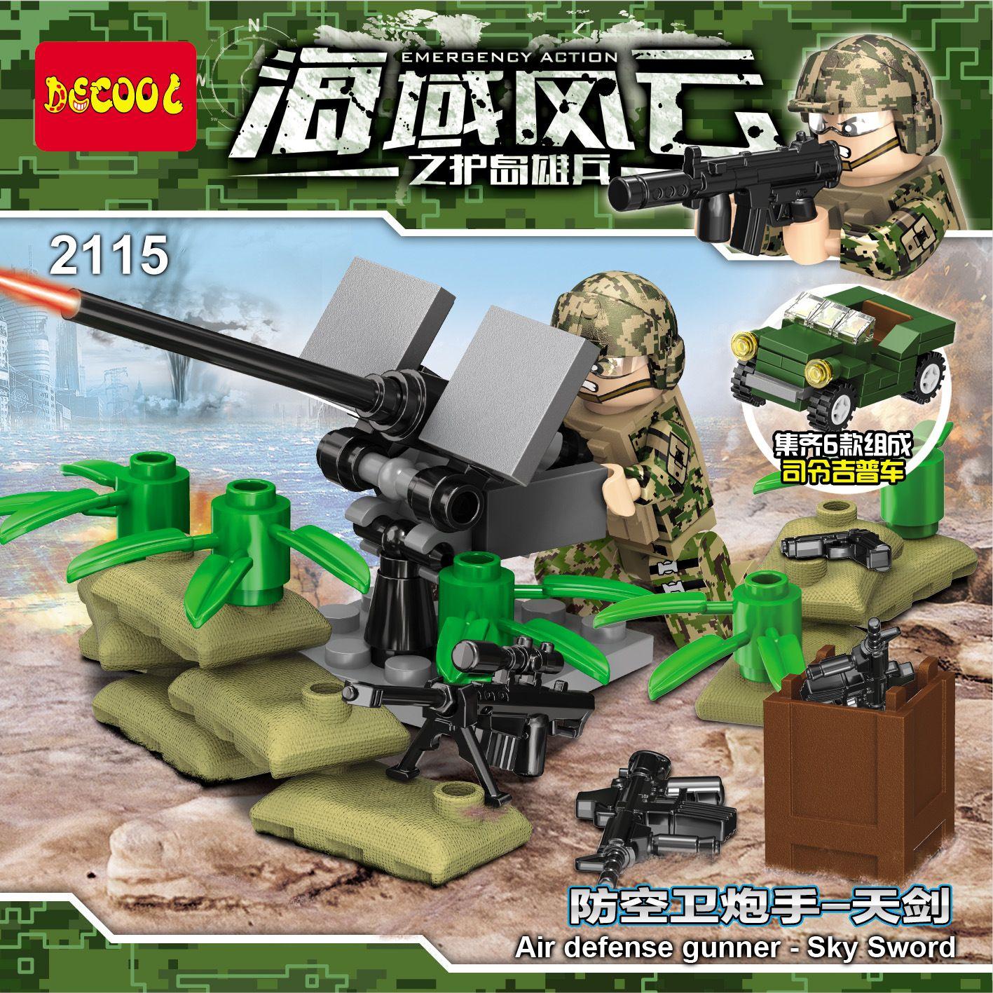BEST Sale Gift  DECOOL / Jisi 2115 Emergency Action Air defense gunner Sky Sword  #1193, #2017, #2115, #6, #BootlegBricks, #Bricks, #CheapBricks, #DECOOLJisi, #DECOOLJisi2115EmergencyActionAirDefenseGunnerSkySword, #DECOOLJisi2115, #KnockOffLego, #LegoClone, #LegoFake, #None #bricks #lepin #sale #toys #knockoffbrick #kobricks #brickset #lego