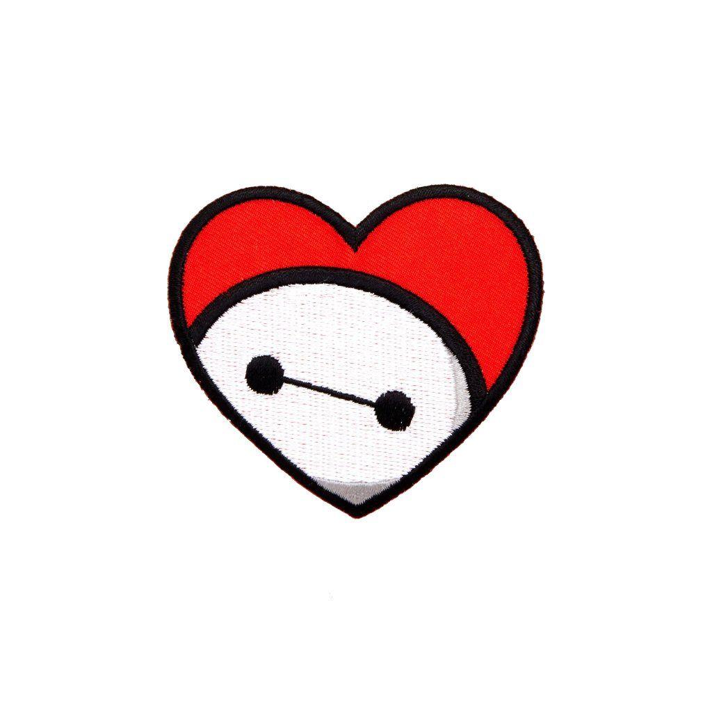 Loungefly Disney Bighero 6 Baymax Red Heart Iron On Patch