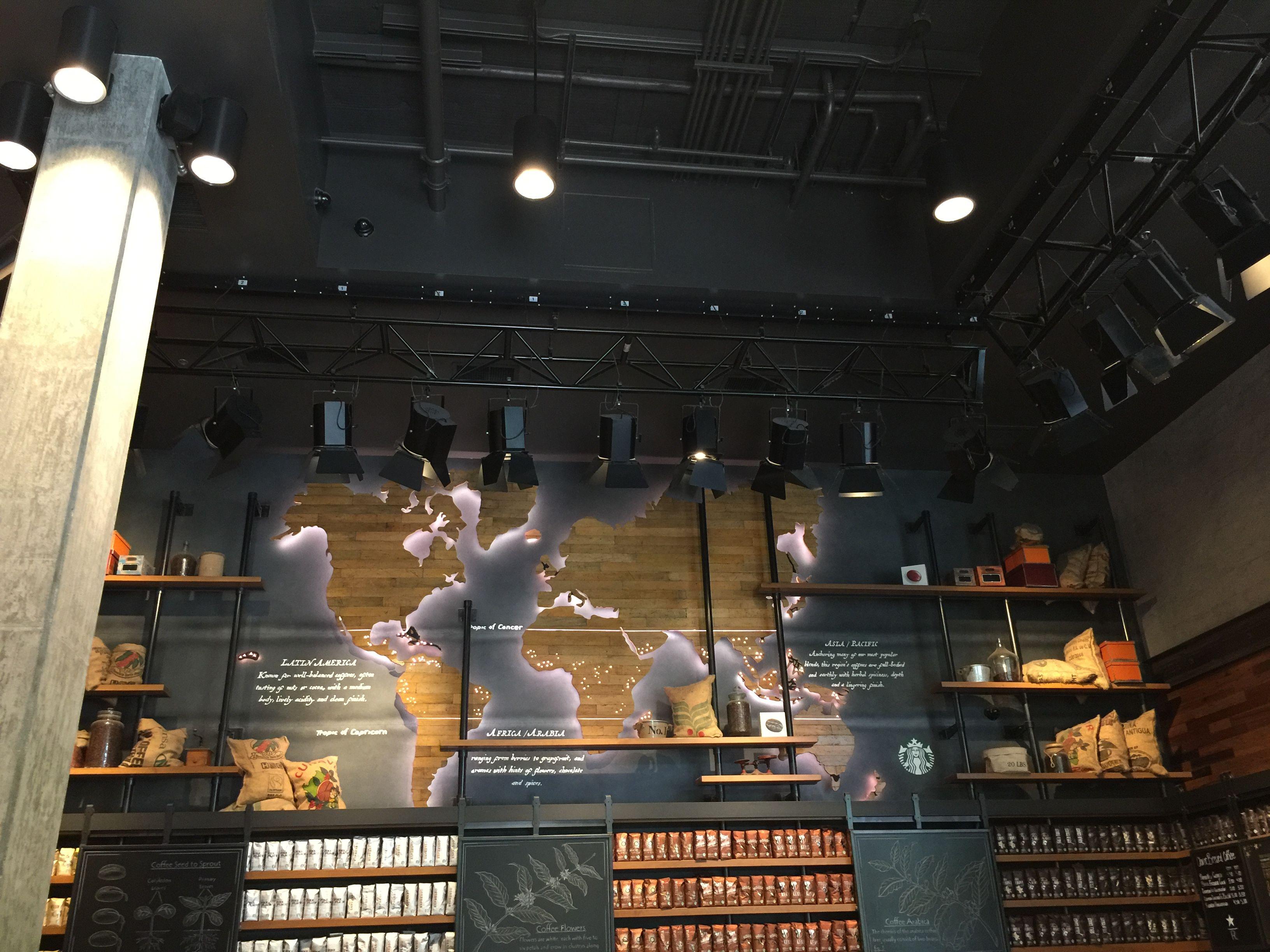 Commercial interior design -- inside Starbucks at Downtown Disney ...