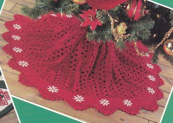 Christmas Tree Skirts Crochet Patterns With Matching