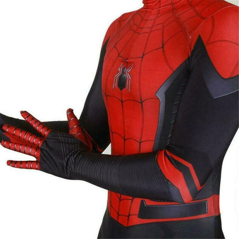 Spider-Man Far From Home Adult Kids Peter Parker Zentai Cosplay Costume Suit