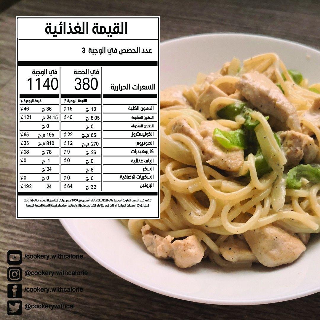 باستا صحية بالوايت صوص Healthy Pasta With White Sauce Cooking Recipes Cooking Recipes
