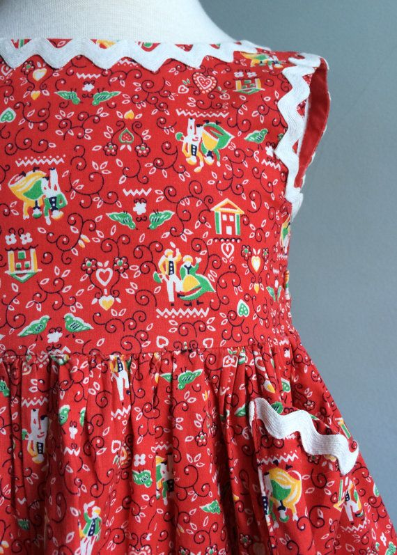 Vintage Girls Dress Vintage Sundress with by FrannyZooeyClassics