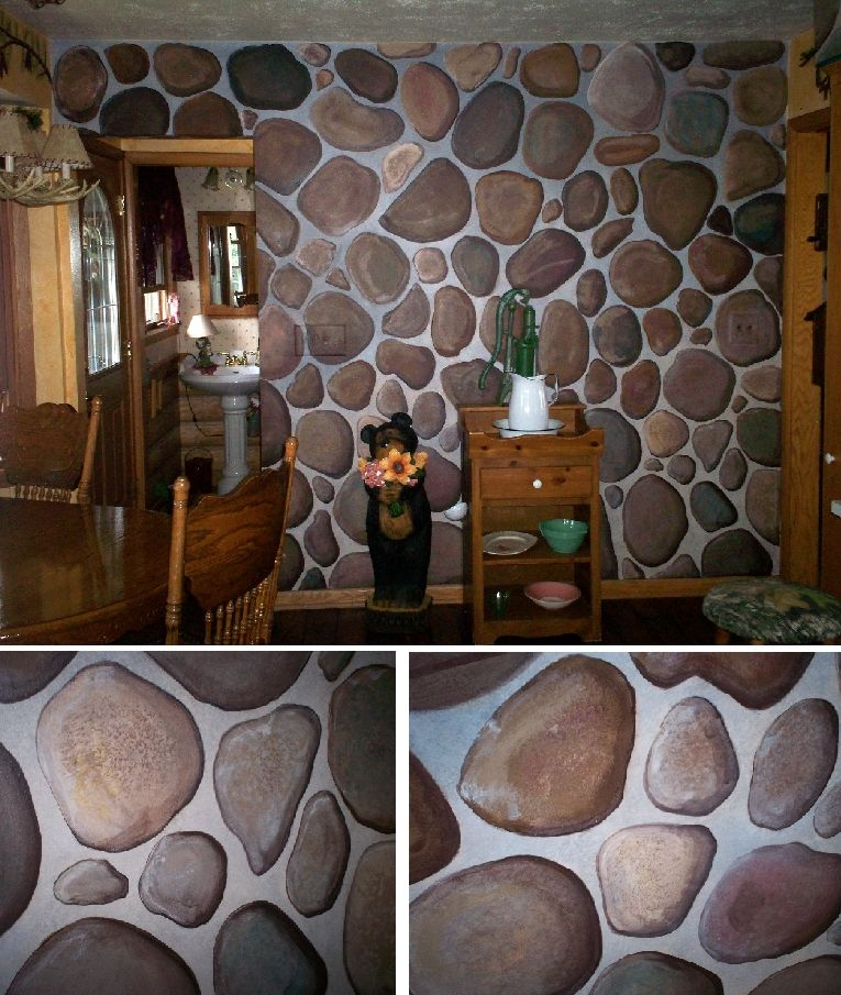 faux painted stone wall Google Search Paint Ideas Tips