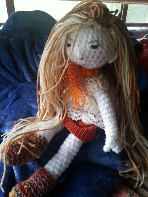 Crochet doll designer Angela Trillo