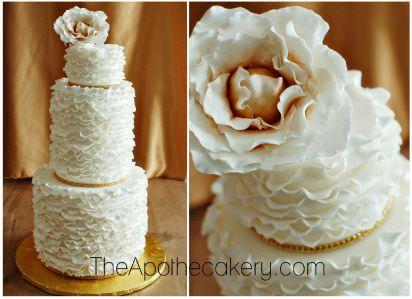 Ruffled cake. theApothecakery.com