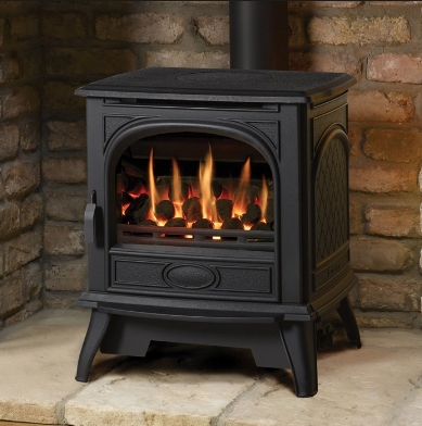 Dovre 280 Cast Iron Electric Stove, Cast Iron Electric Fireplace Stove