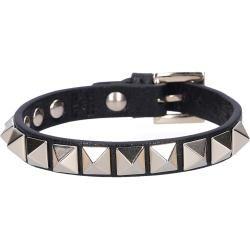 Photo of Valentino bracelet Rockstud calfskin studs gold black Valentino