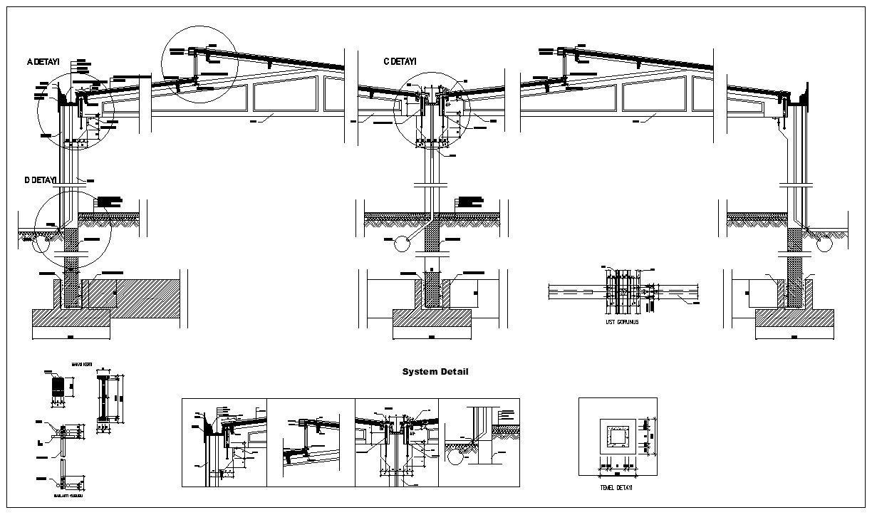 Steel Structure Details V2 Cad Design Free Cad Blocks