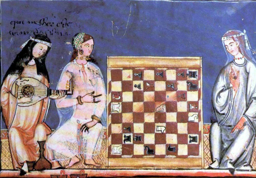 Miniature du manuscrit d'Alphonse X le Sage, 1283 - Femmes maures en costume