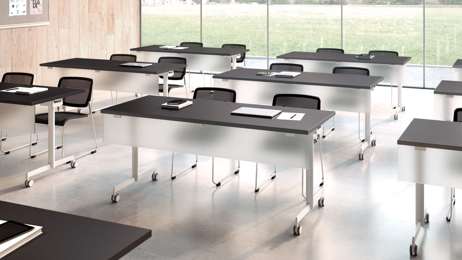Kimball Bedroom Furniture Kimball Office Dock Training Tables Shown With Poly Chairs