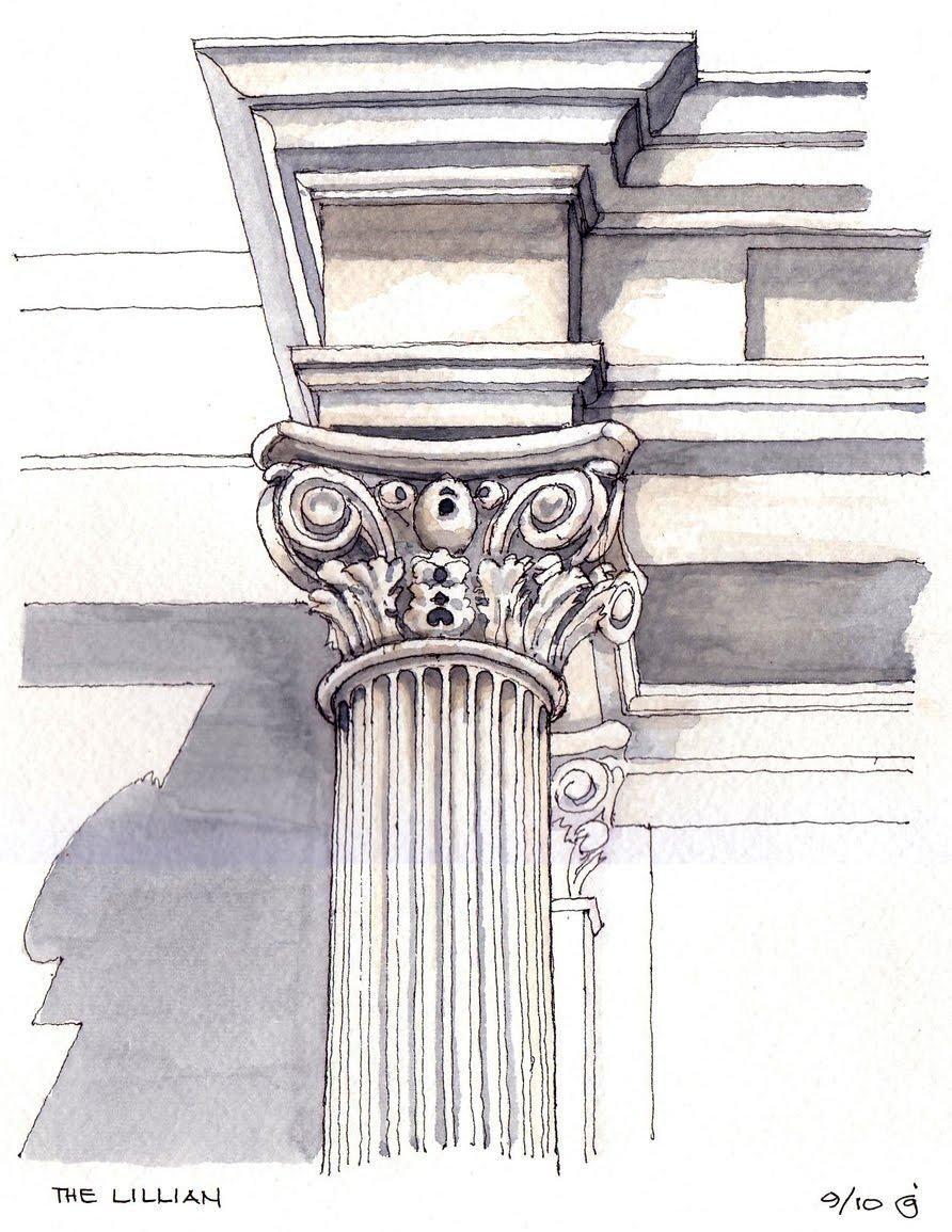 Corinthian Drawing Volute Corinthian Order Pinterest