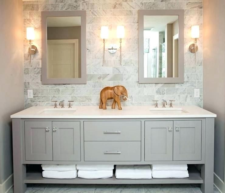 55 Inch Double Sink Bathroom Vanity Vanities White Bathroom Double