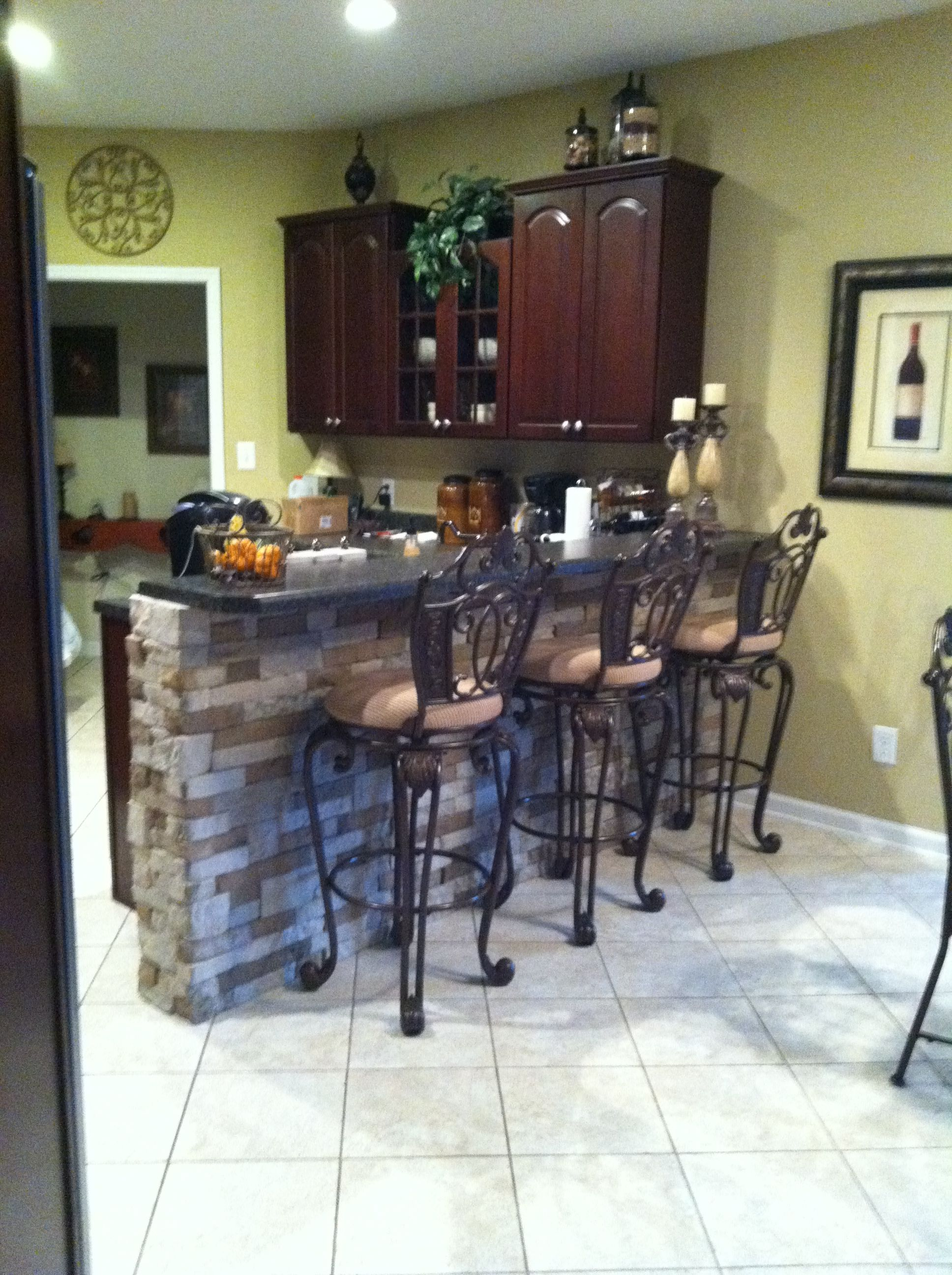 AirStone project DIY on my kitchen bar. Very reasonable priced and ...