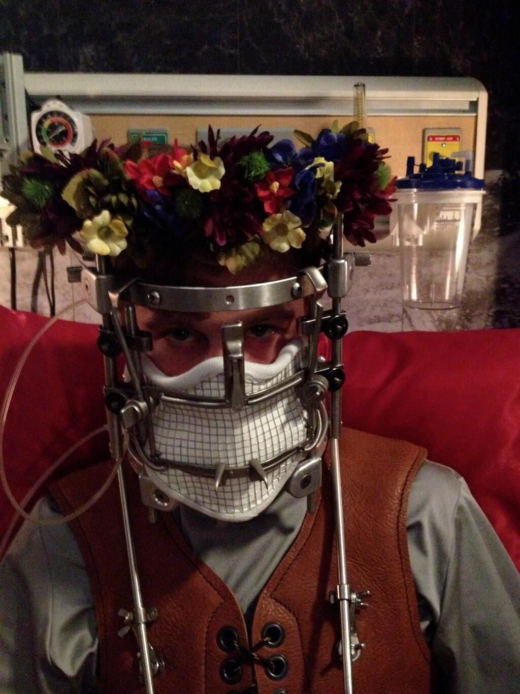 Twitter / BryanFuller: MICHAEL PITT DONS A FLOWER CROWN TO SHOW GRATITUDE TO THE…