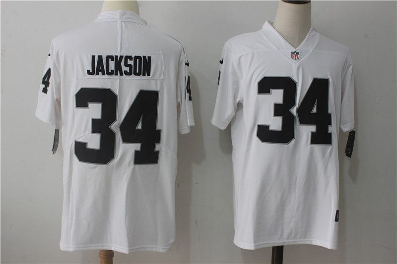 Men Oakland Raiders 34 Jackson White Nike Vapor Untouchable ...