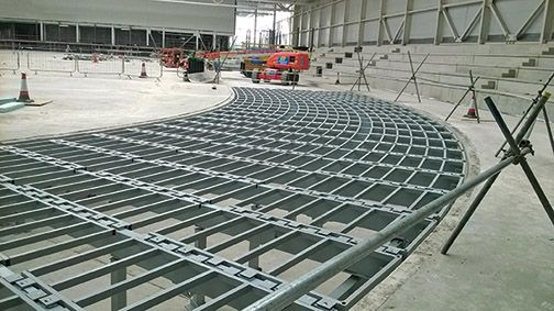 The Sport Ireland National Indoor Arena In Dublin Is A Multi Sport Multipurpose Venue And The Newest Of Its Kind In Europe Indoor Arena Frame Design Concrete