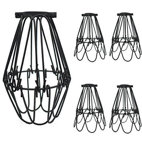 Motent 4pcs vintage industrial metal bird cage lampshade chandelier motent 4pcs vintage industrial metal bird cage lampshade chandelier ceiling pendant 43 dia wall light greentooth Gallery