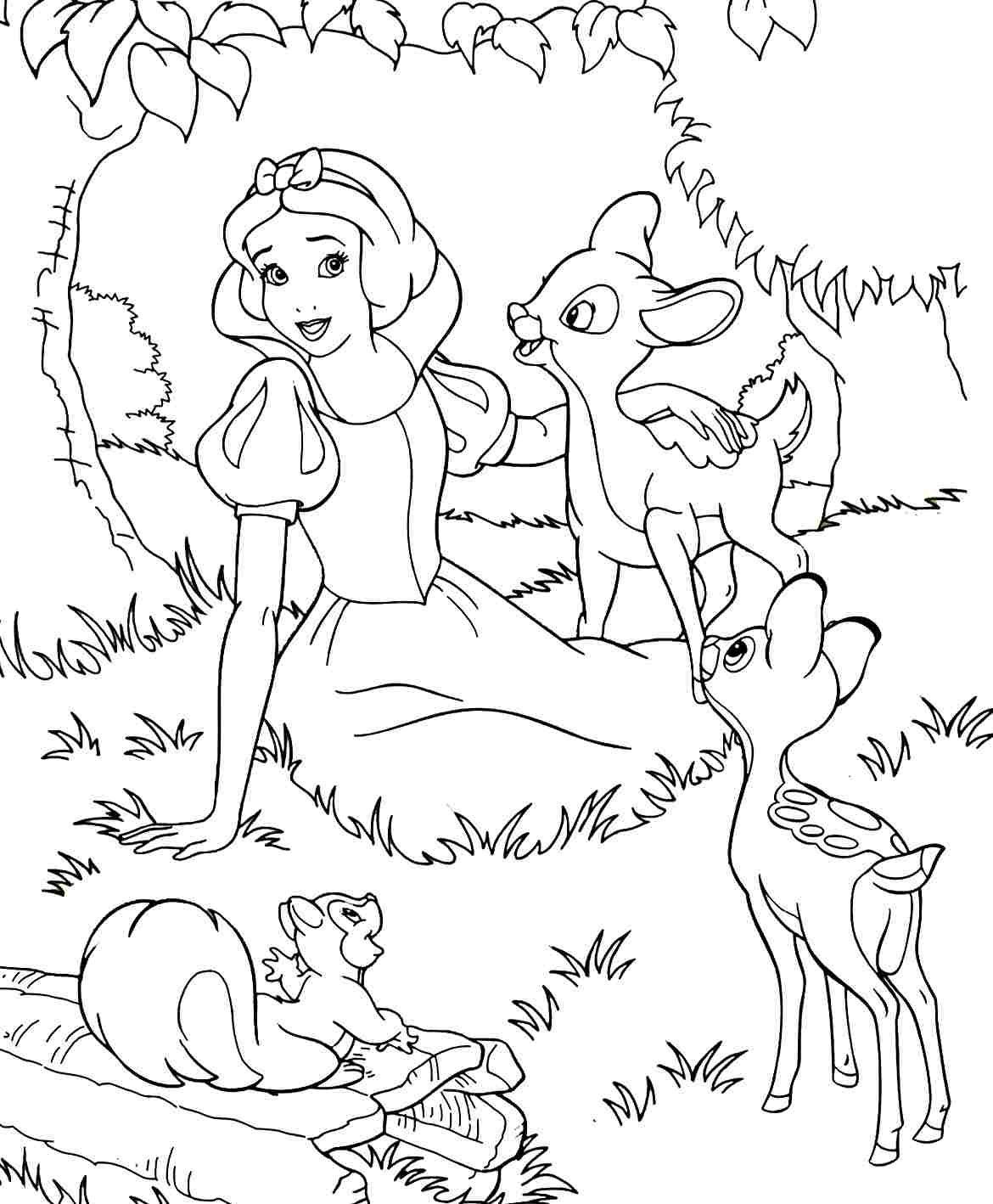 Colouring Sheets Disney Princess Snow White Printable Free ...