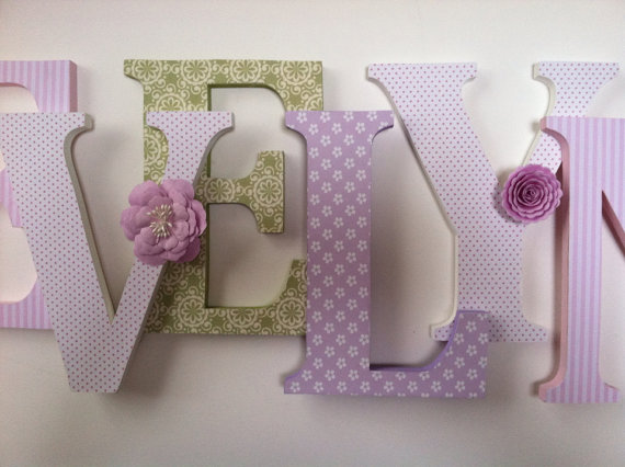 Wooden Letters For Nursery In Pink And Black Diy Home
