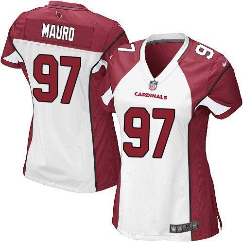 31db19b2 Nike Elite Josh Mauro White Women's Jersey - Arizona Cardinals #97 ...