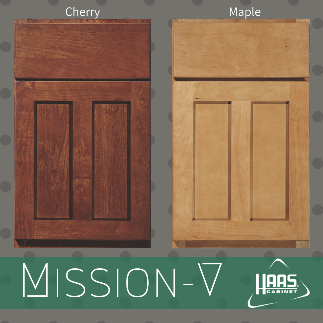 Mission V Door Style On Cherry And Maple C Haas Cabinet Cabinet Cabinetry Home Decor