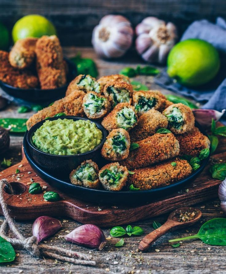 Vegan Croquettes With Spinach Gluten Free