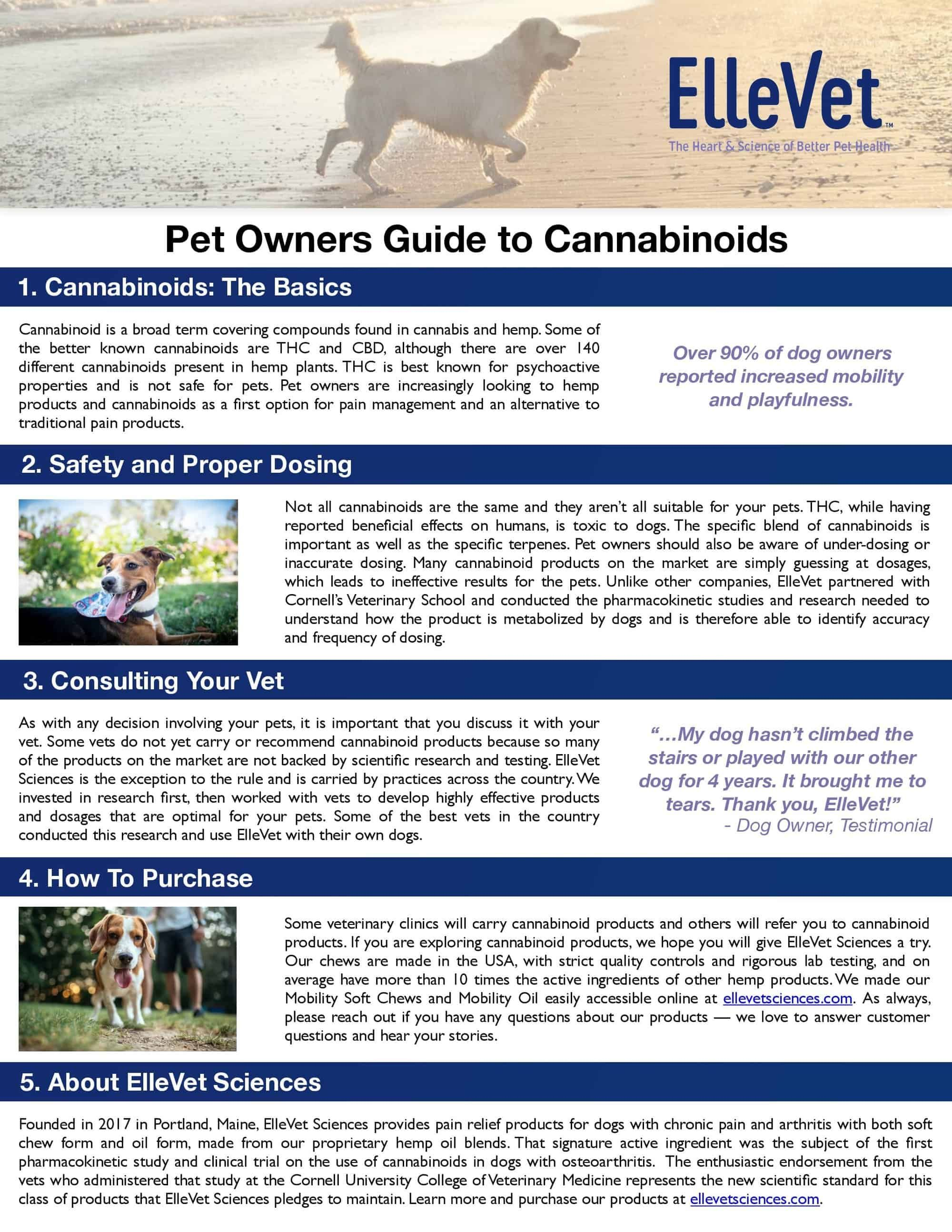 Ellevet S Guide To Cannabinoids For Pet Owners Pet Life Today Pet Life Pet Owners Cannabinoids