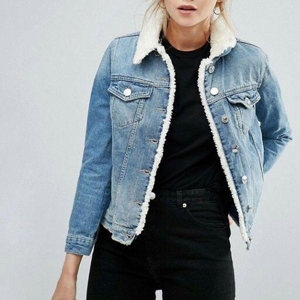Oversized Fleece Fur Lined Denim Jacket With Fur Denim Jacket Women Fur Lined Denim Jacket Denim Jacket With Fur [ 1000 x 1000 Pixel ]