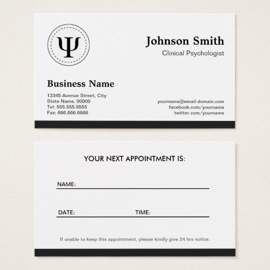 Clinical Psychologist - Psychology Appointment template