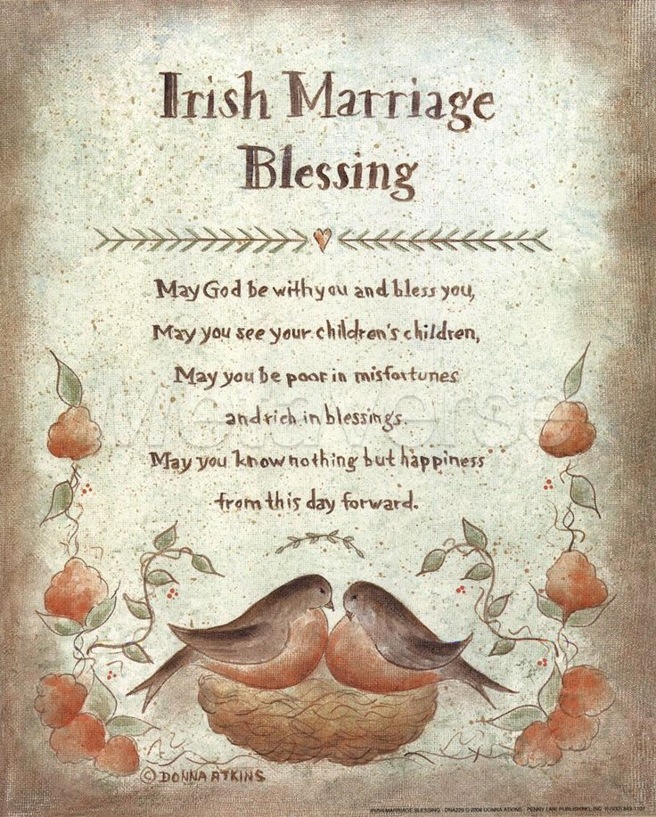 Irish Blessing Proverb Prints By Donna Atkns