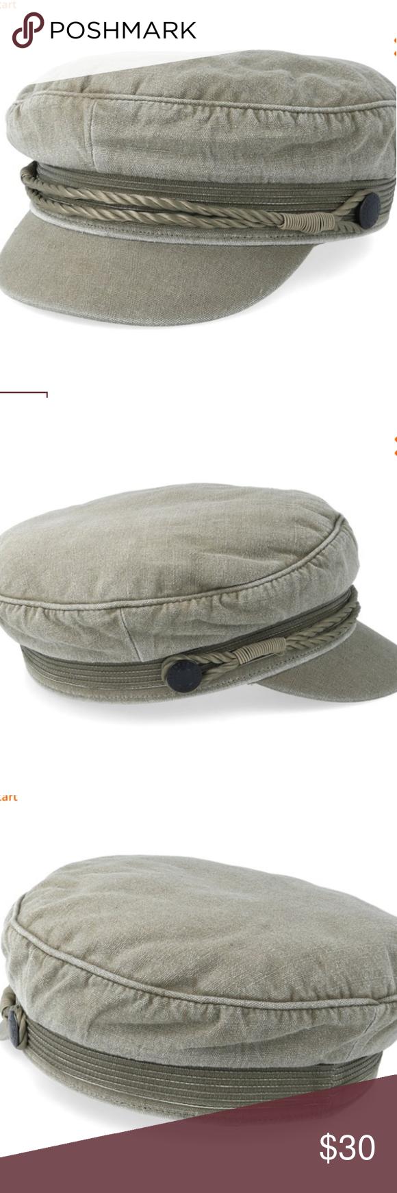 Vntg Nwot Billabong Jack Fiddler Hat Fiddler Hat Sweatband Logo Buttons