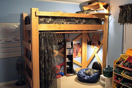 College Dorm Room Idea For Standard Lofted Bed