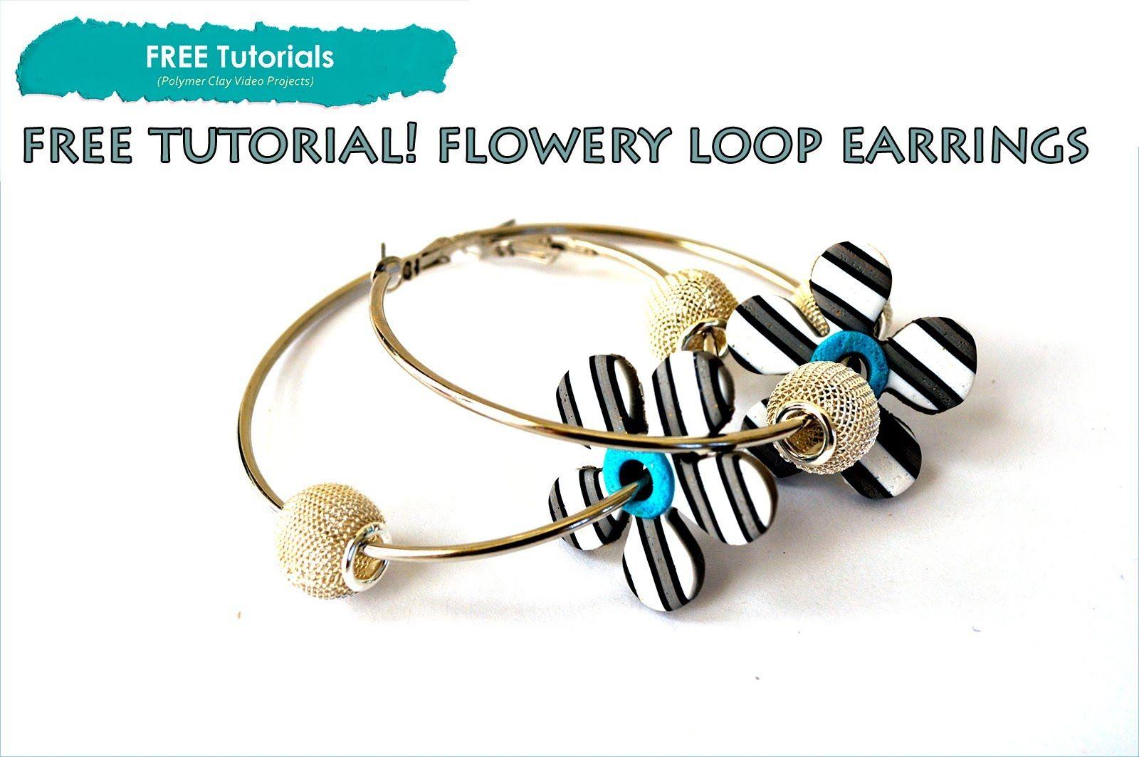 PolyPediaOnline TV - FREE How to Polymer Clay Flower Loop Earrings Proje...