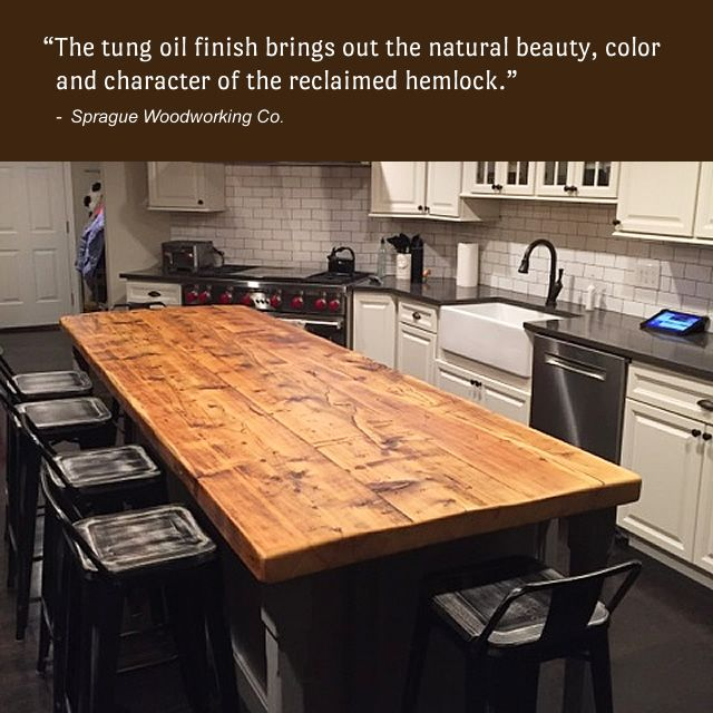 Merveilleux The Great Folks At Sprague Woodworking Co. Created This Beautiful Reclaimed  Hemlock Countertop. It