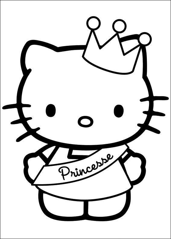 Hello Kitty Princess Coloring Pages For Kids Fnw Printable Hello Kitty Coloring Pages For Kids Hello Kitty Gambar Buku Mewarnai