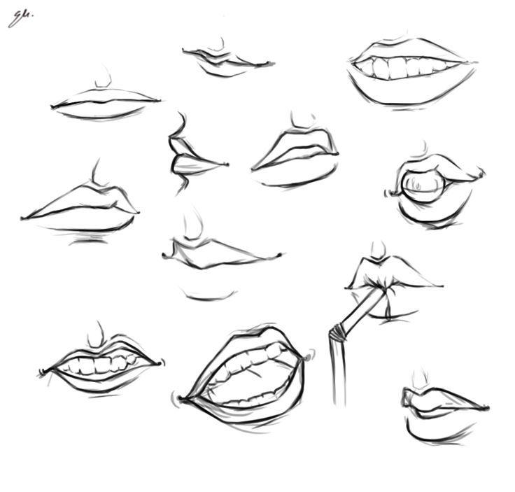 Line Drawing Lips : Lip line art google search pinterest